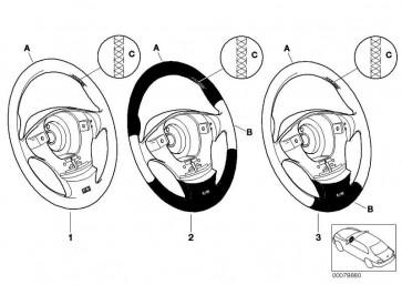 M Sportlenkrad Leder Airbag-Smart TRAUMROT        Z3  (32348021277)