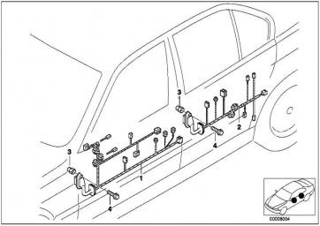 Kabelsatz hinten  5er  (61129120828)