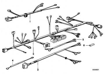Kabelbaum Teilstück Fahrgestell  R  (61111244421)