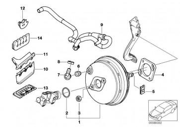 Bremskraftverstärker  3er Z4  (34332282622)
