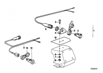 Kabelsatz Steckdose   (61122300273)