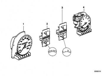 Drehzahlmesser mit Verbrauchsanzeige L/100KM         7er 6er 5er  (62131376577)