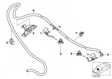 Halter Schlauchleitung  X5  (51718268399)