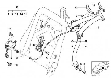 Koppelgetriebe links  3er  (52109113981)