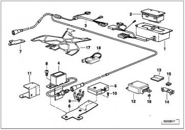 Kabelsatz Airbag Frontsensor  3er  (61121376397)