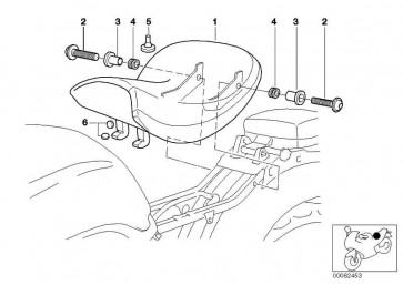 Komfortfahrersattel Kunstleder SCHWARZ         259C  (52517650307)