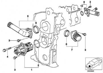 Thermostatgehäuse mit Thermostat 95CEL 3er 5er Z3  (11531739755)