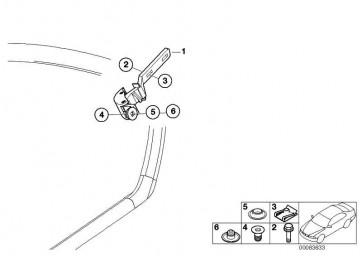 Ausstellfenstermechanismus links  3er  (51367001619)