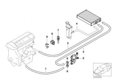 Schlauch Motorvorlauf-Wasserventil (64216902678)