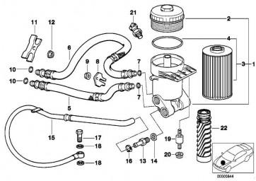 Bundmutter selbstsichernd M8-8-ZNS3 1er 3er 5er 6er 7er 8er X1 X3 X5 X6 Z1 Z3 Z4 Z8 MINI  (07119904295)
