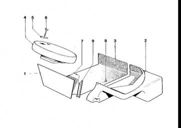 Verkleidung Trennwand Gepäckraum  M1  (51922167311)
