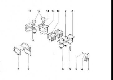 Schalter Gebläse (61312161339)