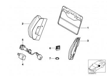 Schalter Lehnenbreitenverstellung rechts  3er 6er  (52102695396)