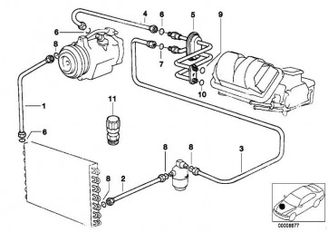 Druckleitung Trockner-Doppelrohr  Z3  (64508381189)