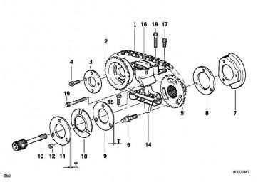 Sechskantmutter M6              3er 5er 7er X3 X5 Z3 Z4  (07119900910)