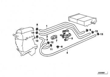 Schlauch Motorvorlauf-Heizkörper  3er  (64218377500)