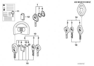Schlüsseltasche Funkschlüssel (51217008769)