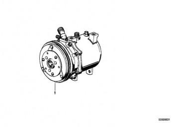 Lagerbock Klimakompressor  3er 5er  (64551730768)