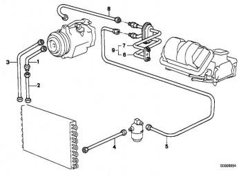Saugleitung Verdampfer-Kompressor R134A           3er  (64538391053)