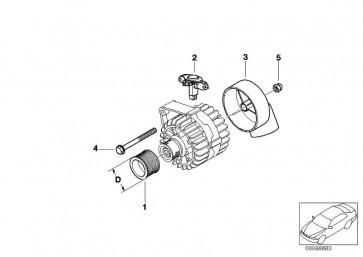 Riemenscheibe Generator DB=49MM         1er 3er 5er X1 Z4  (12317552352)