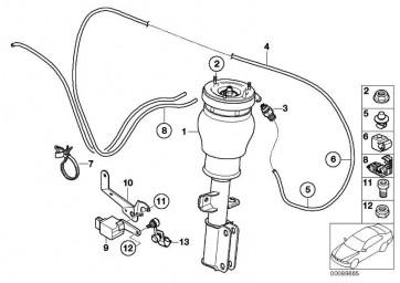 Rohr Verteilerblock links  X5  (37236754455)