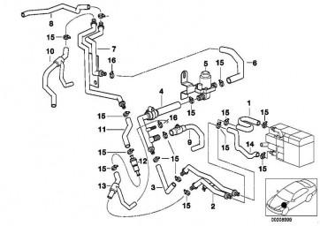 Schlauch Heizkörper-Motorrücklauf  5er  (64218369421)