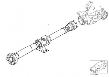 Gelenkwelle Automatikgetriebe L=1627MM        5er  (26107576539)
