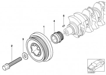 Schwingungsdämpfer  1er 3er 5er X3  (11237805696)