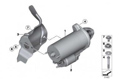 Sechskantschraube mit Scheibe M6X14U2-ZNNIVSI 1er 3er 5er 6er 7er X3 X5 X6 MINI  (07119905952)