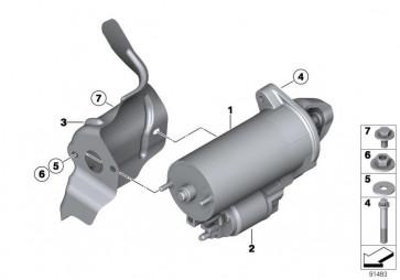 Wärmeschutzblech Anlasser (12417537492)