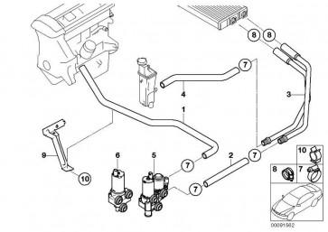 Schlauch Motorvorlauf-Zusatzwasserpumpe  3er  (64216902683)