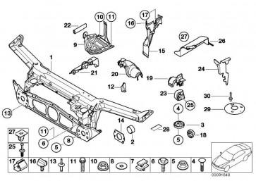 Abdeckung Lenkgetriebe rechts  3er  (51718242566)