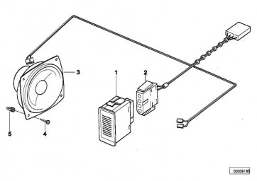 Kabelsatz Mikrofon Freisprechanlage  3er  (65618357450)