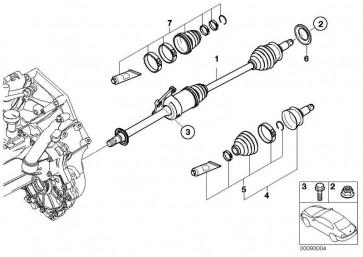 Austausch Abtriebswelle rechts  MINI  (31607574864)