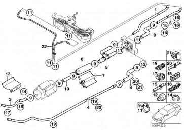 Kraftstoffvorlaufleitung hinten  3er  (16127175994)