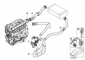 Schlauch Motorvorlauf-Zusatzwasserpumpe  3er  (64216905941)