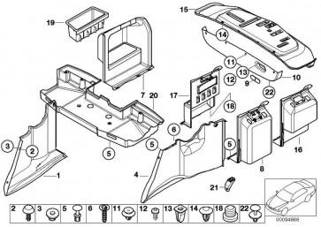 Verkleidung Gepäckraum hinten links GRAPHIT         5er  (51472497193)