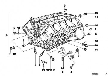Zylinderschraube M6X20           3er 5er 7er 8er X5  (07119900190)