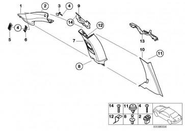 Blende C-Säule rechts ANTHRAZIT       3er  (51437044102)
