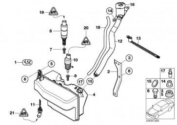 Befüllkanal für Waschbehälter  7er  (61667009125)