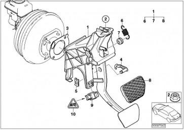 Dichtung Bremskraftverstärker  5er 6er 7er X3 X4  (34336753979)