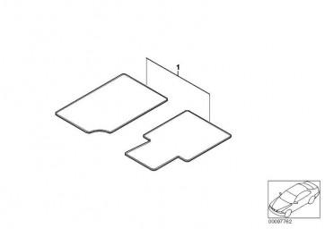 Satz Fussmatten Velours Einfassung Leder ANT./CHAMPAGNER Z4  (51477918340)