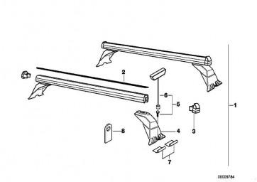 Schlüssel (Code) 1 STÜCK         3er 5er 7er X3 X5 Z3  (82799405012)