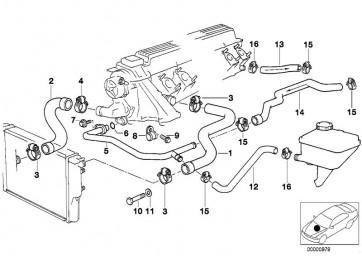 Schlauch Heizkörper-Motorrücklauf (11532246004)