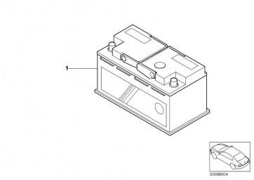 Original BMW Batterie gefüllt 110AH 7er 5er 6er  (61218376384)