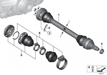 Austausch Abtriebswelle links LK=86MM/D=27MM (33217530965)