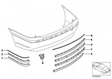 Stossleiste lackiert hinten rechts CODE - UNI/MET. 7er  (51120136752)