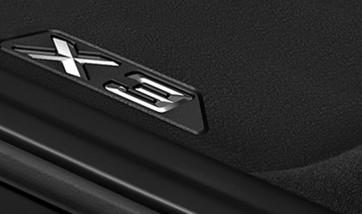 BMW Allwetter Fußmatten hinten X3 G01 iX3 G08 BEV X3M F97