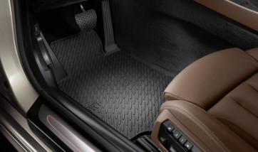BMW Satz Gummimatten vorne schwarz, passend für 6er F12 / F13 / F06GC