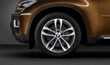 BMW Alufelge Doppelspeiche 424 bicolor (orbitgrey / glanzgedreht) 9J x 19 ET 48 Vorderachse X6 E71